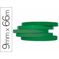 Cinta precintadora marca Q-Connect 66mx9mm verde