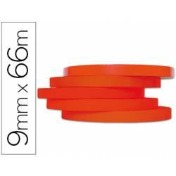 Cinta precintadora marca Q-Connect 66mx9mm roja