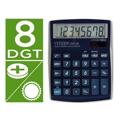 Calculadora sobremesa Citizen Modelo CDC-80 8 digitos