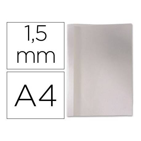 Carpeta termica GBC Pvc y cartulina color blanco 1,5 mm pack 100 unidades