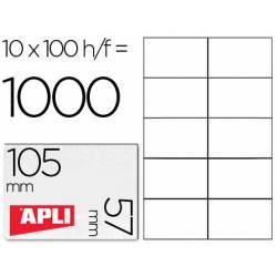 Etiquetas Adhesivas marca Apli 105 x 57 mm