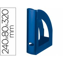Revistero plastico Liderpapel azul opaco