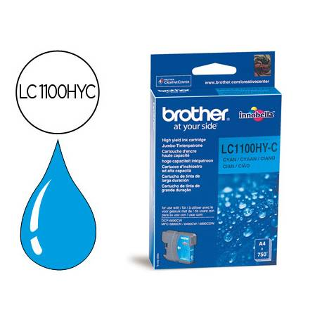 Cartucho Brother LC-1100HYC Cian