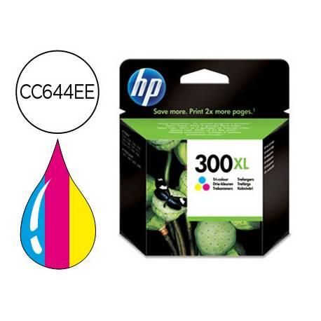 Cartucho marca HP 300XL Tricolor CC644EE