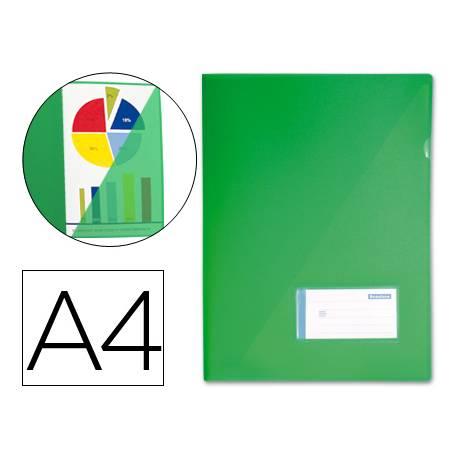 Funda dossier uñero polipropileno Liderpapel Din A4 verde
