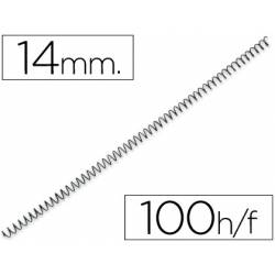 Espiral metalica marca Yosan paso 64 14 mm