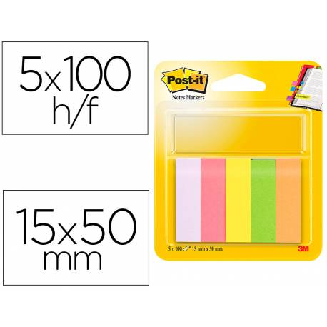 Bloc quita y pon Post-it ® neon 15 x 50 mm