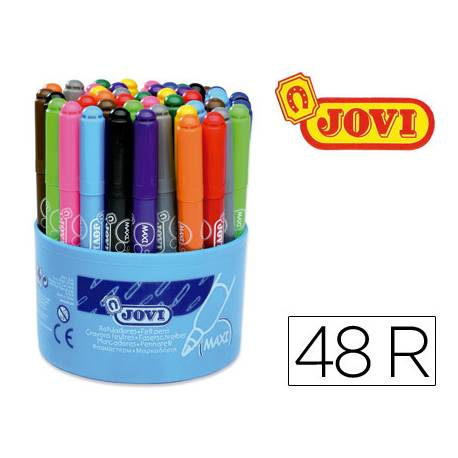 Rotulador Jovi Maxi punta gruesa caja 48 rotuladores lavables