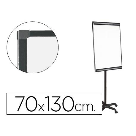 Pizarra Blanca Lacada Magnetica Movil con Ruedas 70x103 cm Q-Connect