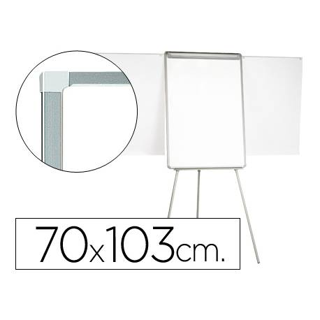 Pizarra Q-Connect trípode marco de aluminio 70x103 cm