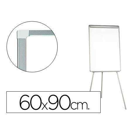 Pizarra Q-Connect trípode marco color gris 90x60 cm