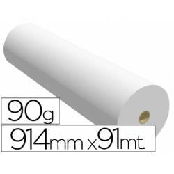 Papel reprografia para Plotter 90 g/m2, 914 mm x 91 m.