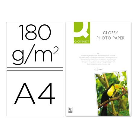 Q-Connect Foto Glossy 180 g/m2 Din A4