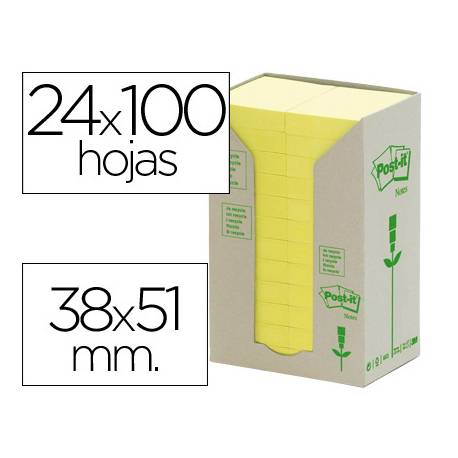 Bloc quita y pon recicladas Post-it ®