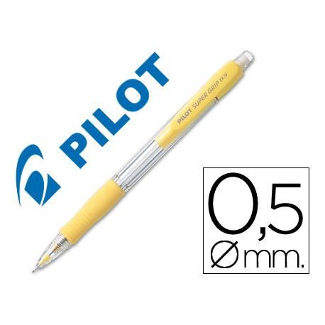 Portaminas Pilot Super Grip color amarillo