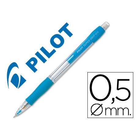 Portaminas Pilot Super Grip color celeste