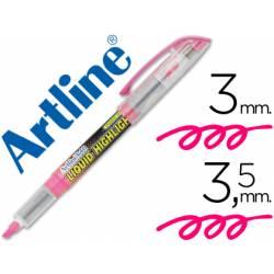 Rotulador Artline EK-640 Fluorescente color Rosa Punta biselada