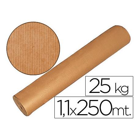 Bobina papel tipo kraft Fabrisa 1,10 x 2,50 m marron