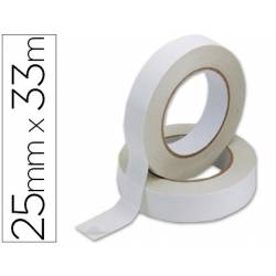 Cinta adhesiva doble cara marca Q-Connect 33 mt x 25 mm