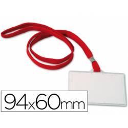 Identificadores Q-Connect cordon plano color rojo