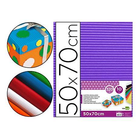 Carton ondulado Liderpapel color violeta