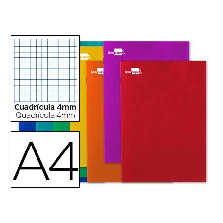Libreta escolar grapada Liderpapel Write A4 80 hojas