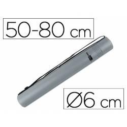 Portaplanos plastico extensible Liderpapel color gris