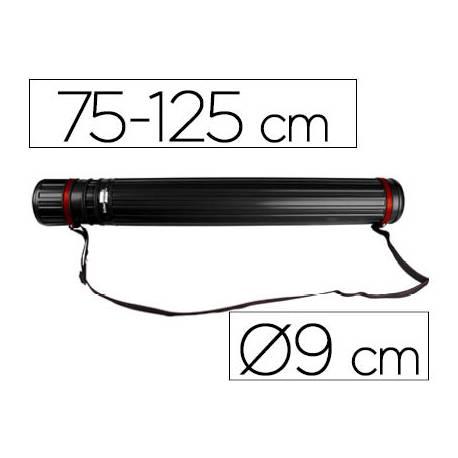 Portaplanos plastico extensible 75cm diametro 9 cm Liderpapel color negro
