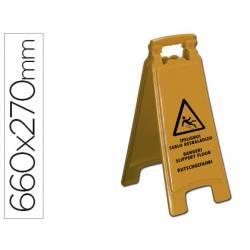Cartel marca Q-Connect peligro suelo resbaladizo