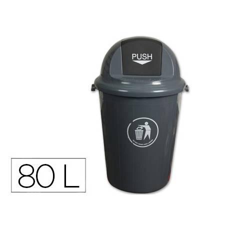Papelera plastico Q-Connect de 80 L
