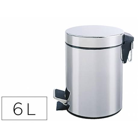 Papelera metalica con pedal Q-Connect de 6 L