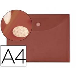 Carpeta sobre con velcro Din A4 de Liderpapel burdeos