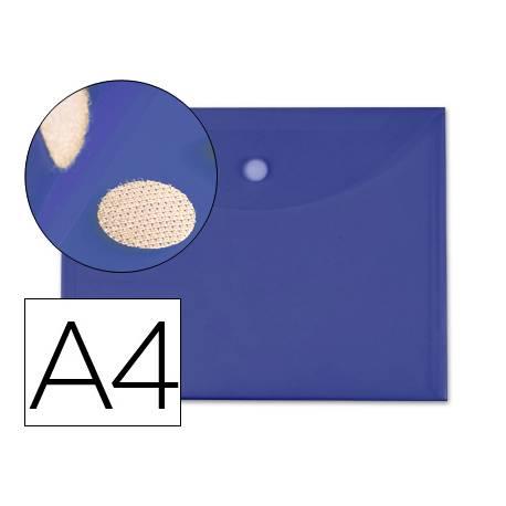 Carpeta sobre con velcro Din A4 de Liderpapel azul