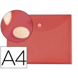 Carpeta sobre con velcro Din A4 Liderpapel rojo