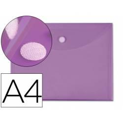 Carpeta sobre con velcro Din A4 de Liderpapel violeta