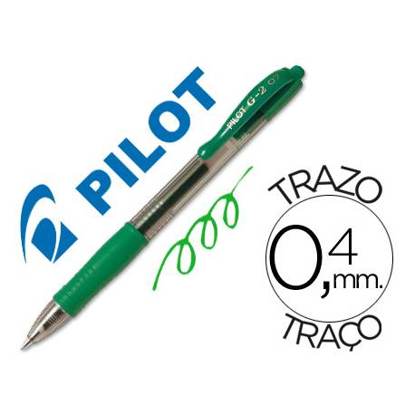 Boligrafo Pilot G-2 Verde 0,4 mm