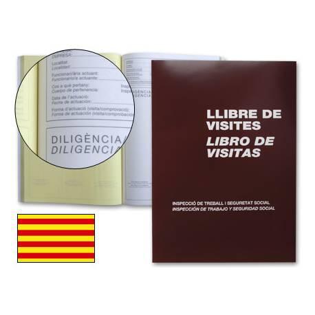 Libro Miquelrius tamaño Folio Registro de visitas 3 idiomas