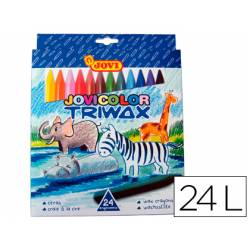 Lapices cera Jovi Jovicolor Triwax caja de 24 unidades colores surtidos