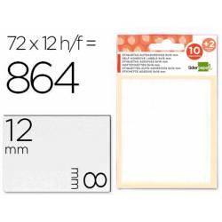 Etiquetas Adhesivas marca Liderpapel Obsequio 8 x 12 mm