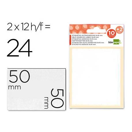 Etiquetas Adhesivas marca Liderpapel Obsequio 50 x 50 mm