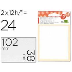 Etiquetas Adhesivas Liderpapel Obsequio 38 x 102 mm