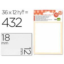 Etiquetas Adhesivas marca Liderpapel Obsequio 12 x 18 mm