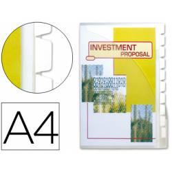 Cajetin de archivo plastico Beautone Din A4