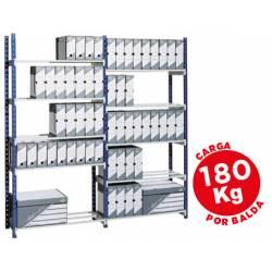 Estanteria Paperflow metalica con 5 estantes acero
