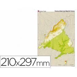Mapa mudo de Madrid fisico