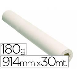 Papel fotografico brillo reprografia para Plotter 180 g/m2, 914 mm x 30 m.