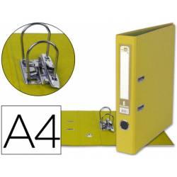 Archivador de palanca marca Liderpapel Documenta color amarillo 52 mm