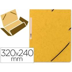 Carpetas de gomas carton prespan Q-Connect Din A4 amarillo