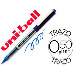 Rotulador-bolígrafo Uni-Ball azul UB-150 0,5 mm