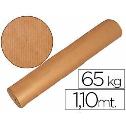 Bobina papel tipo kraft 1.10m x 700 m 65 kg marron